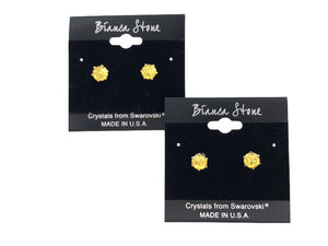 November Birthstone Stud Earrings With Genuine Swarovski Crystals
