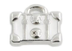 White Luggage Bag Floating Charm