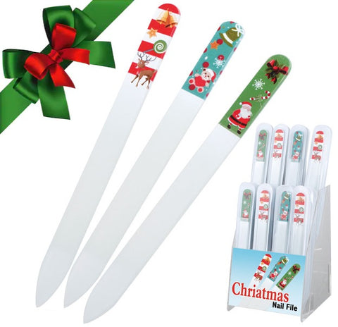 Christmas Themed Glass Nail Files
