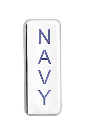 Navy Floating Charm