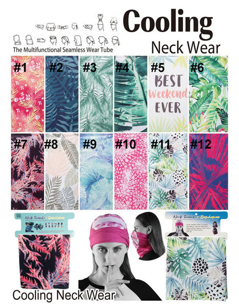 Earth And Surf Neck Tublar Multi Function Cooling Face And Neck Cover Bandanna