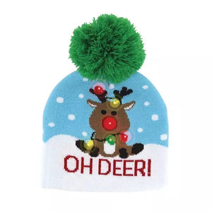 Oh Deer Kids Lotsa Lites Flashing LED Christmas Hat