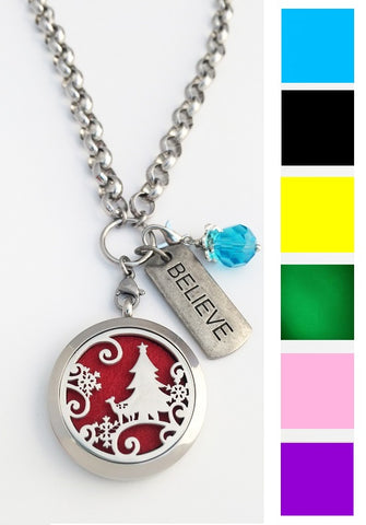 Christmas Essential Oil Aroma Therapy Diffuser Locket