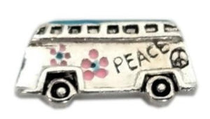 Hippie Van Floating Charm