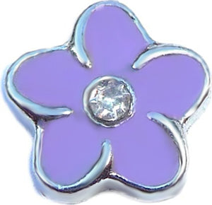 Purple Flower Floating Charm