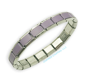 Purple Powder Coat 9mm Italian Charm Starter Bracelet