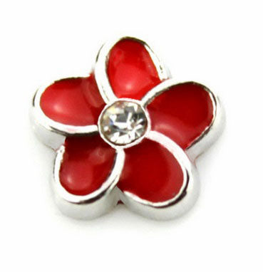 Red Flower Floating Charm