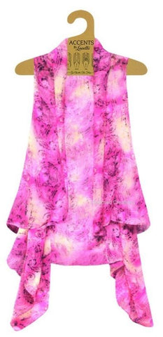 Pink Paisley Vest By Lavello