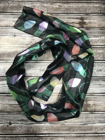 Sheer Christmas Print Scarf