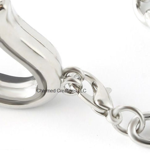 Example Of Our Floating Charm Locket Security Clasp