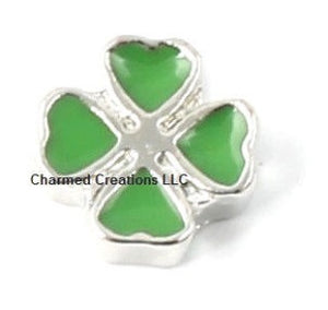 Lucky Four Leaf Clover Floating Charm
