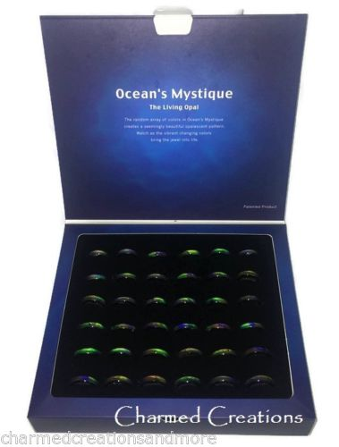 Box Of 36 Oceans Mystique Mood Rings With Counter Display