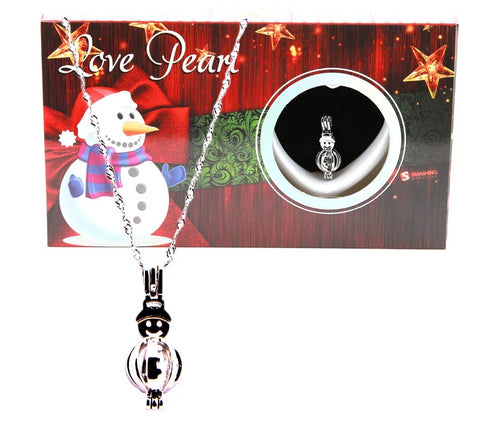 Love Pearl™ Snowman Necklace DIY Oyster Opening Kit
