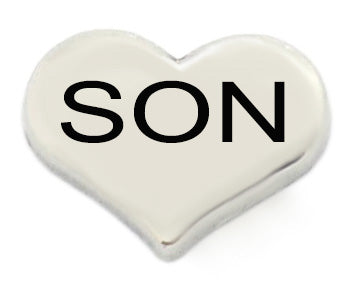 Son Silver Heart Floating Charm