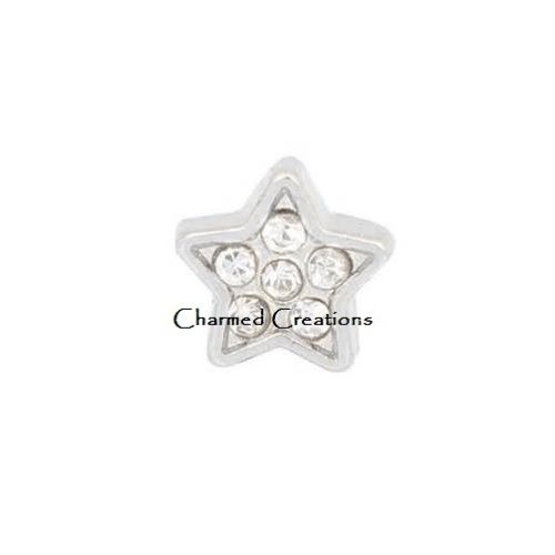 CZ Star Floating Charm