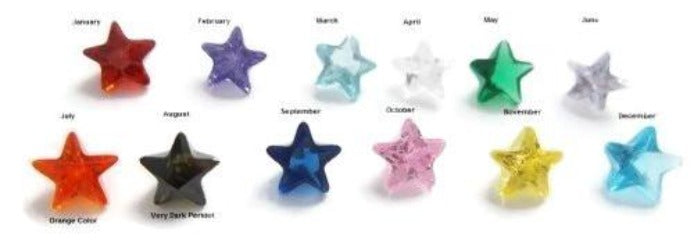 Star Shape Birthstone Floating Charms