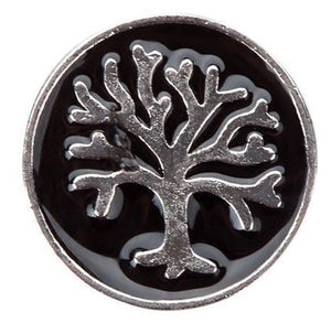 Black Family Tree Floating Charm