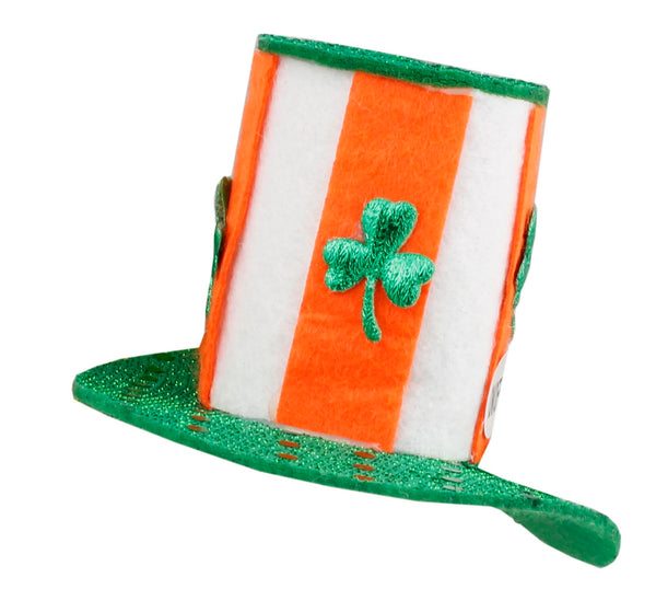 St. Patrick's Day Lucky Leprechauns Fascinator In Orange