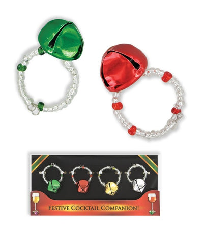 Christmas Jingle Bell Wine Glass Marker Charms