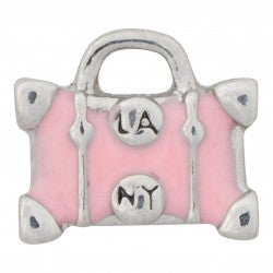 Pink Luggage Bag Floating Charm