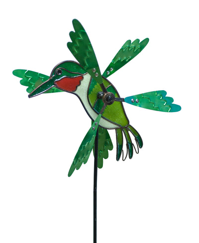 Hummingbird Pinwheel stake By Echo Valley
