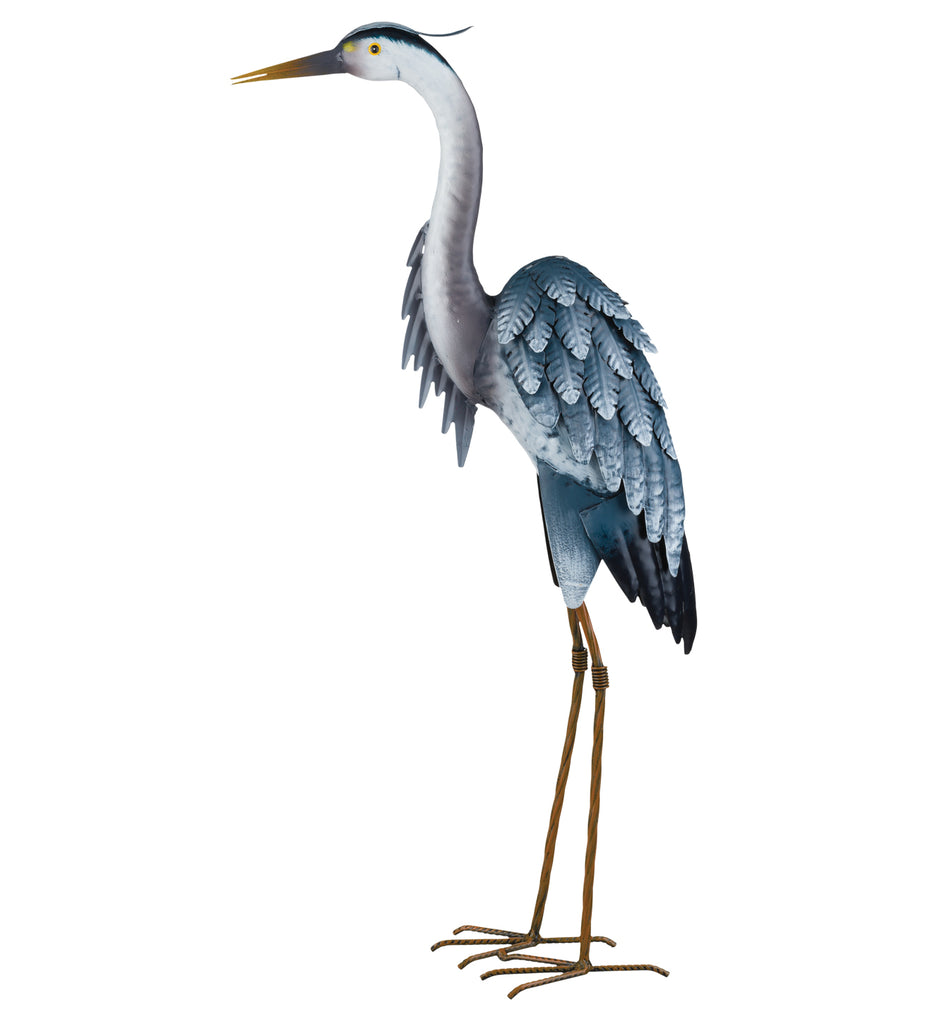"Garden Decor-Blue Heron up 27"" figurine By Regal"