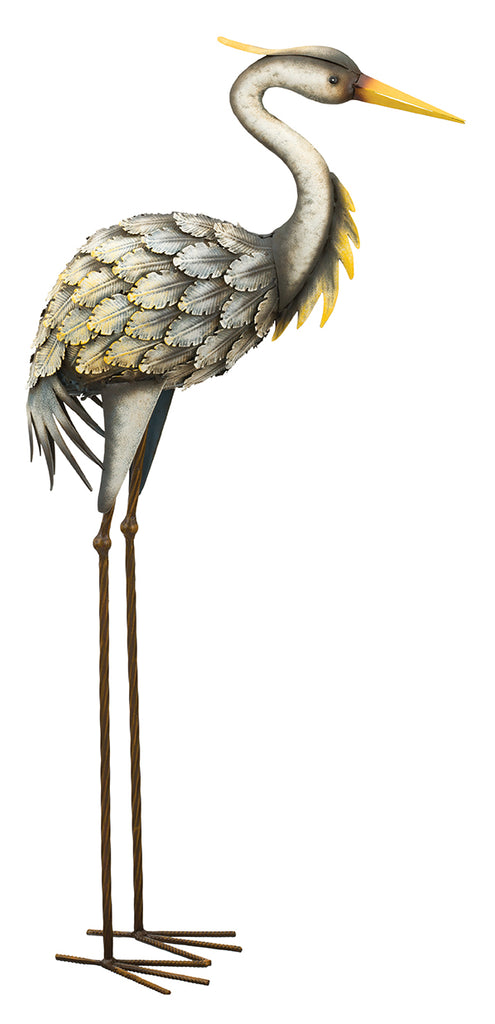Garden Decor-Grey Heron Down figurine By Regal