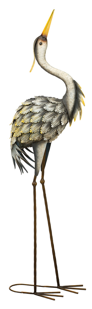 Garden Decor-Grey Heron Up figurine By Regal