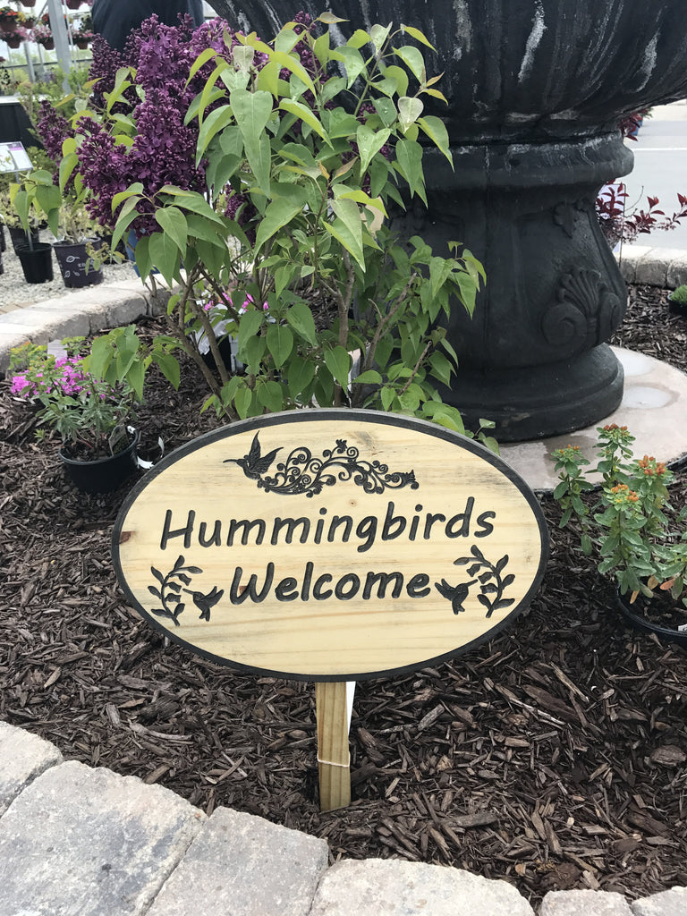 Hummingbirds Welcome Stake