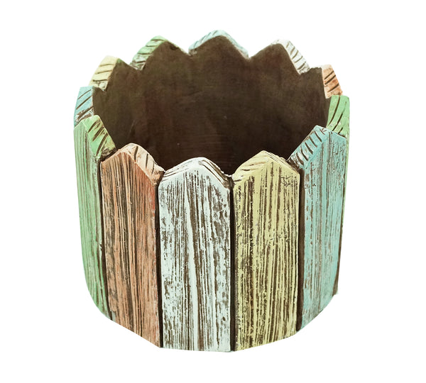 Planter-Round Picket Fence By Alpine for sale | Shop Stuart's