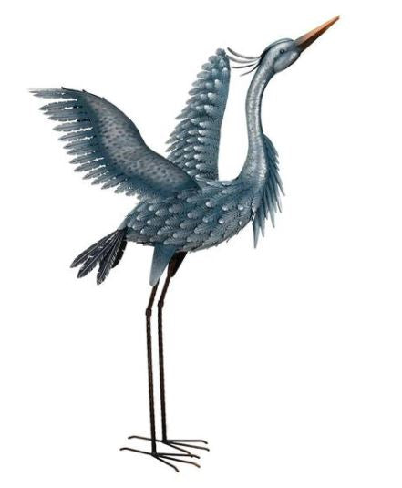 Blue heron wing's up figurine Photo courtesy of Regal Art and Gift