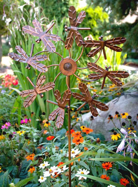 Stake-'Dragonfly Pinwheel' By Echo Valley photo courtesy of Echo Valley
