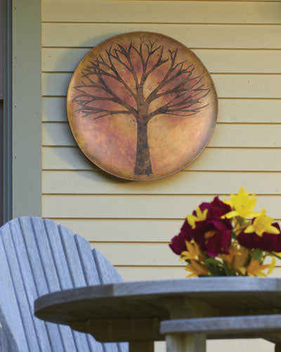 "Garden Decor-Wall Disc ""Tree"" By Ancient Graffiti"