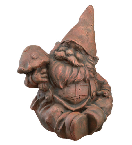 Gnome with mushroom statue photo courtesy of Regal Art and gift