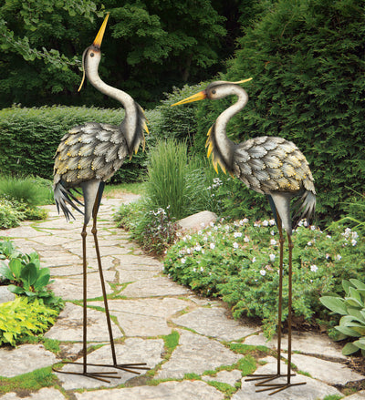 Garden Decor-Grey Herons figurines By Regal