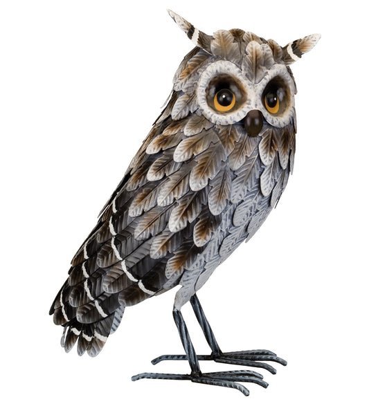Garden Decor- Owl Grey Horned figurine By Regal