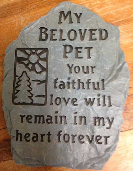"Outdoor decor-""My beloved pet"" stepping stone"