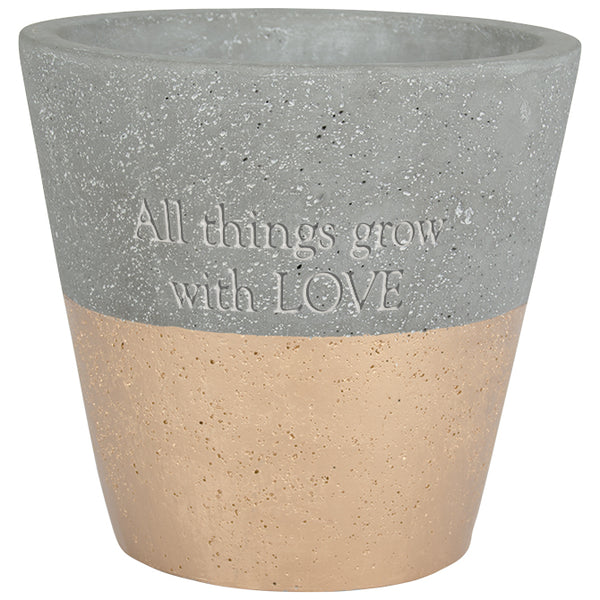 Planter All things grow with love By Carson