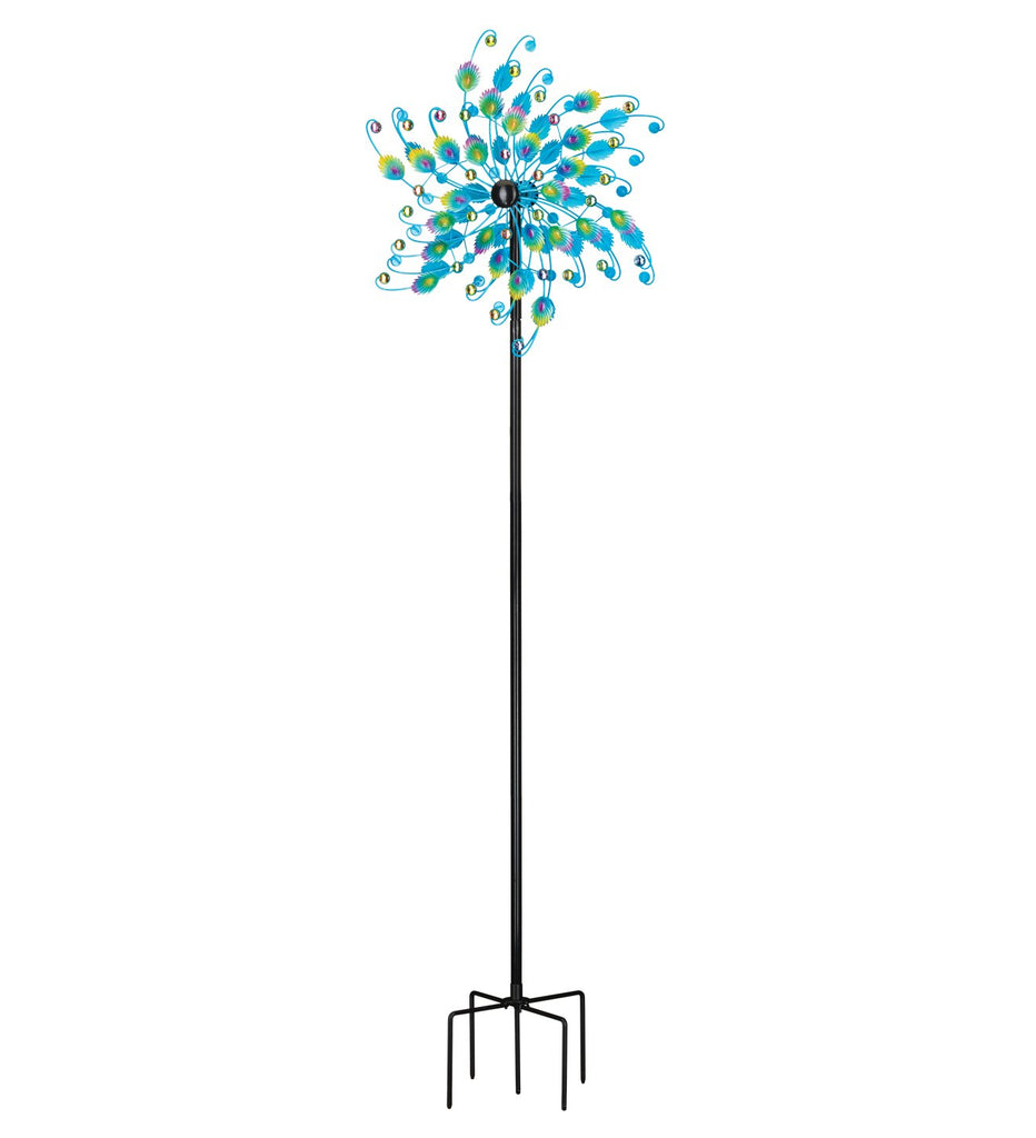 "Stake Spinner 'Rotating Peacock Jeweled Metal' 72""  By Regal"