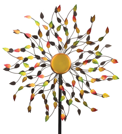 "Stake 'Rotating wind Spinner'-Leaves 84"" By Regal"
