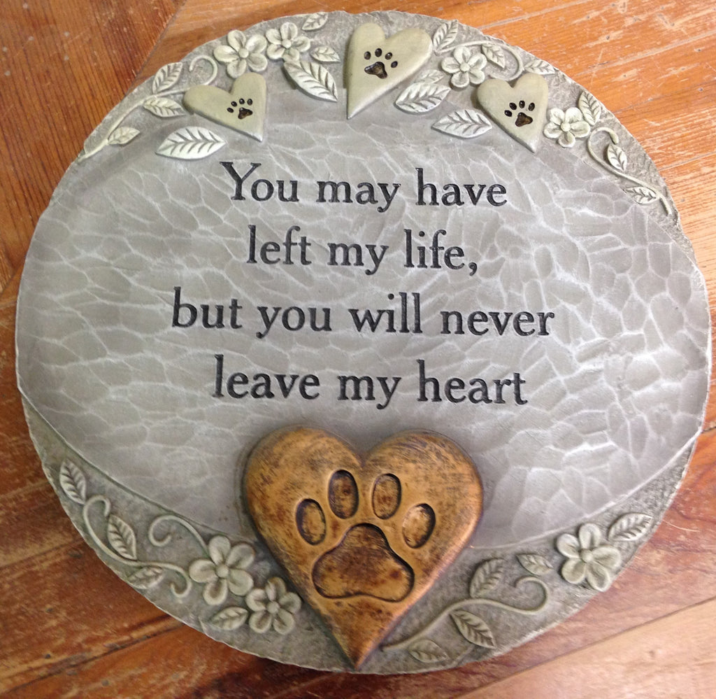 "Outdoor decor-Pet""paw prints"" stepping stone by: Carson"