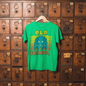 "Green Pac-Man ""Old School"" Vintage Tee"