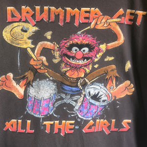 "Muppets Animal ""Drummer Gets the Girls"" Tee- X-Large"
