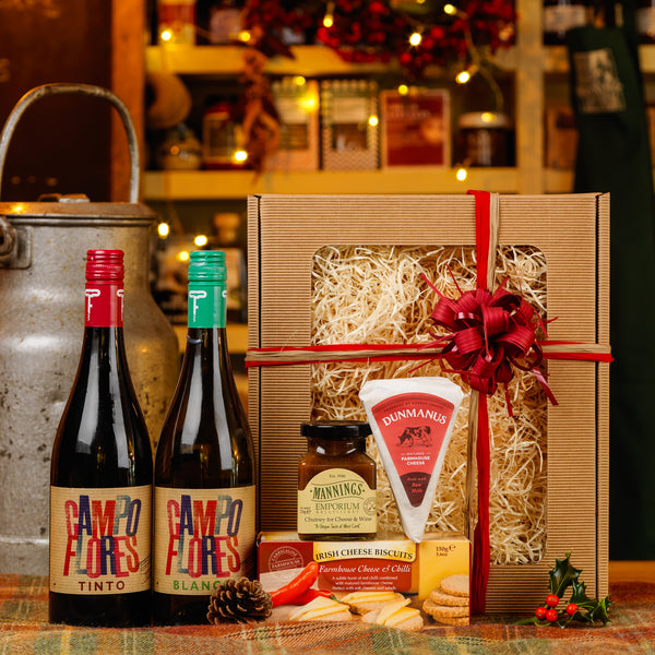 Cheese and Duo of Wines Gift Box