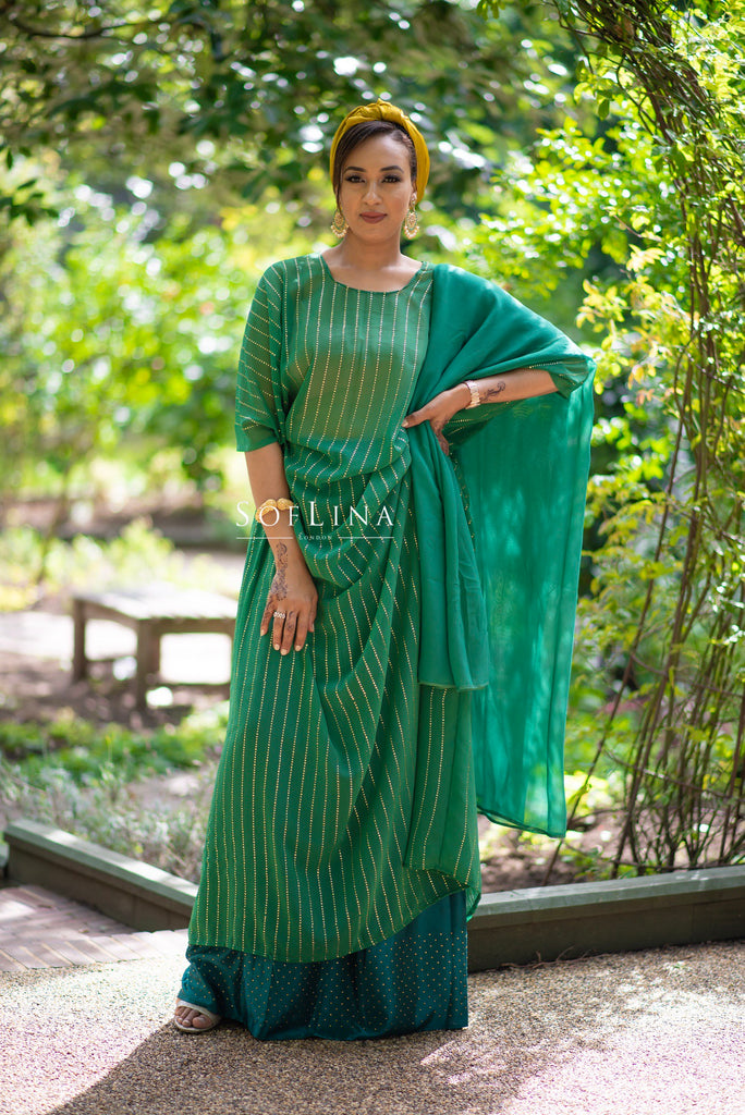 Green Metallic stripe dirac