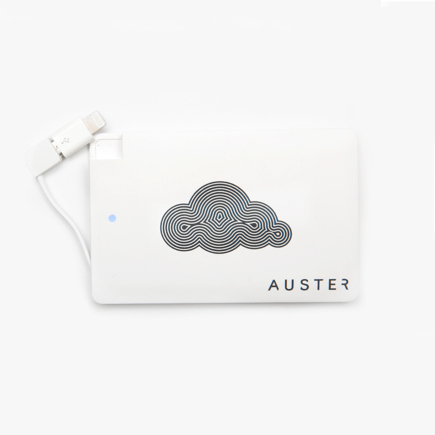 ONE AUSTER 2600 mAh POWERBANK – WHITE<br>(so you never run out of juice)