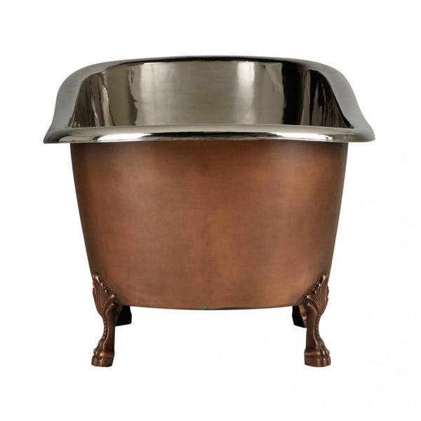 NORAH VICTORIAN COPPER SLIPPER CLAWFOOT TUB - NICKEL INTERIOR