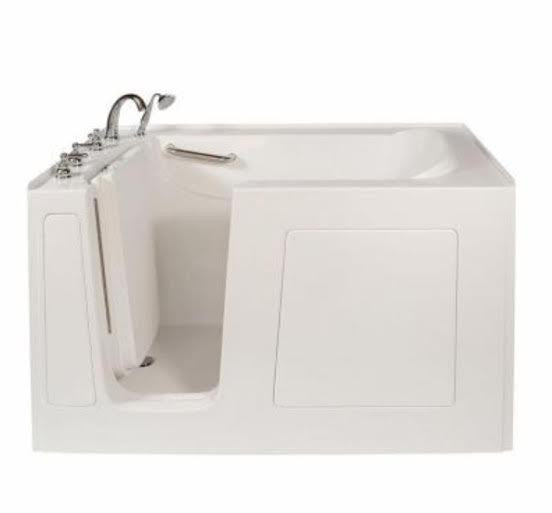 60x32x38 Walk-in Tub Available in Soaker, Whirlpool, Air, or Dual Jets
