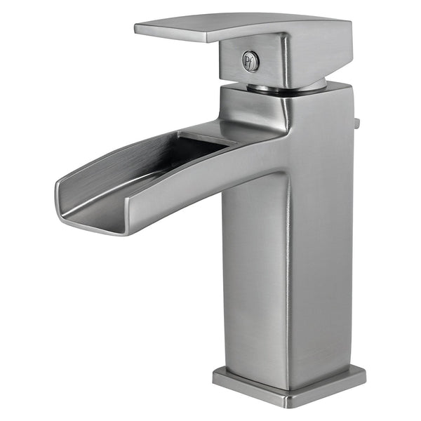 Pfister GT42DF0K Kenzo Single Control Waterfall 4 Inch Centerset Bathroom Faucet in Brushed Nickel