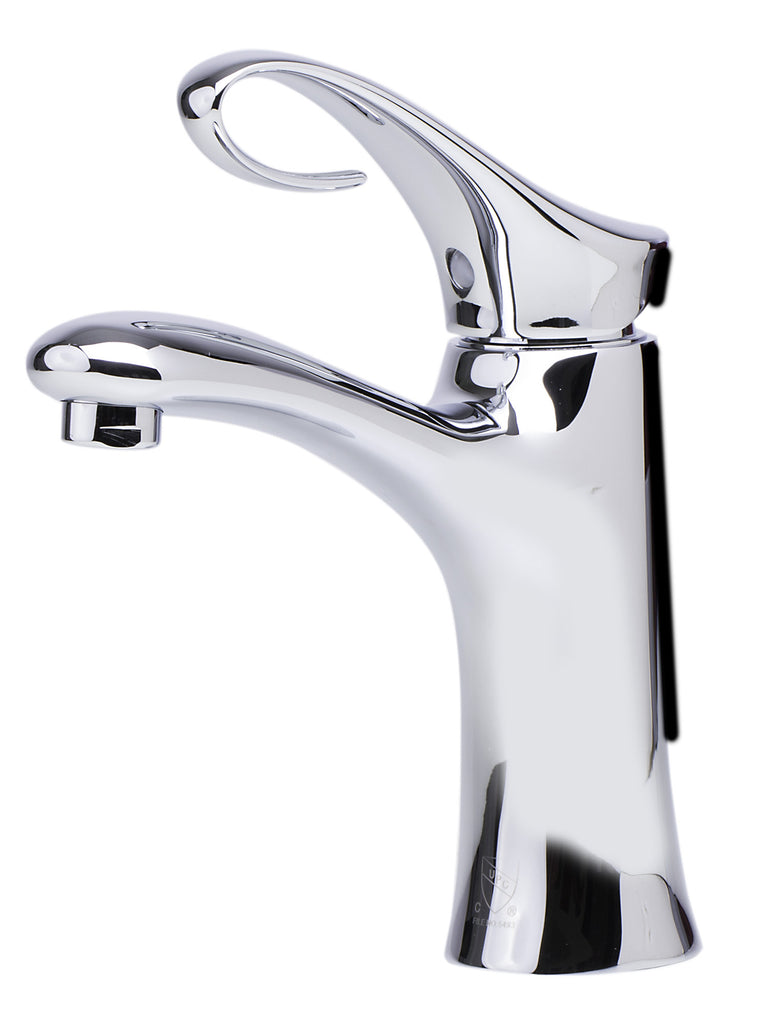 ALFI brand AB1295 Polished Chrome Single Lever Bathroom Faucet